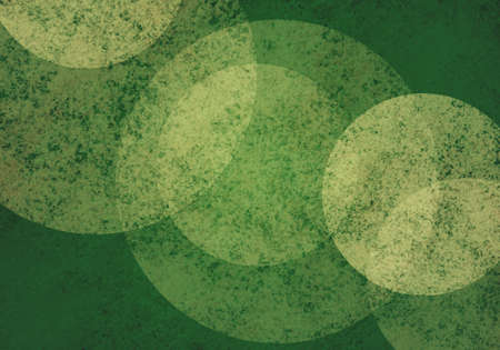 spot the difference: large white bokeh lights on green background with textures, Christmas color