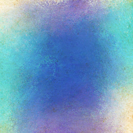 messy: bright blue purple and white color splash with messy grunge texture background Stock Photo