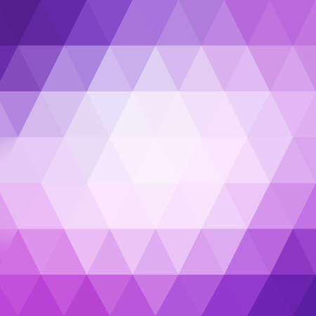 triangle pattern: abstract pink low poly background with purple border, triangle shapes in mosaic pattern of diamonds in diagonal striped rows, graphic art background Stock Photo