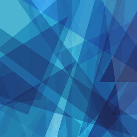 Abstracte blauwe achtergrond met witte lijnen en strepen in willekeurig patroon, driehoeksvormen en diagonale strepen, lichte en donkerblauwe kleuren, bedrijfsrapport of corporate job background concept