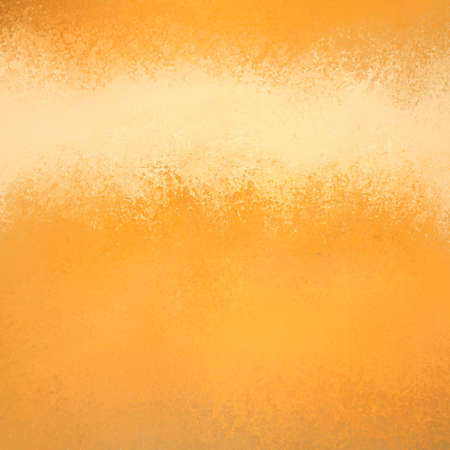 sponged: orange gold background with painted beige title stripe or header bar, detailed sponged texture design Stock Photo