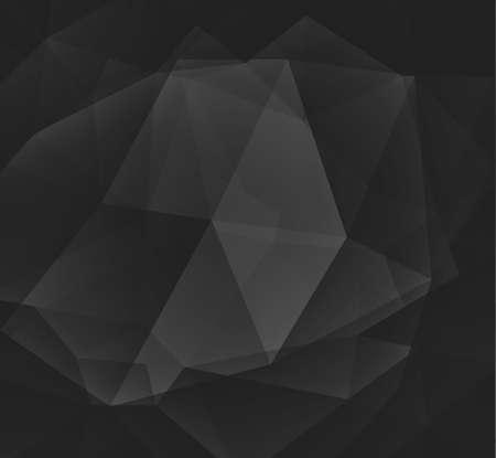 abstract black: black low poly background with diamond facet or crystals texture concept Stock Photo