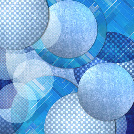 circle pattern: abstract blue background, layers of blue circle shapes in random artistic pattern composition, blue floating balls or bubbles design