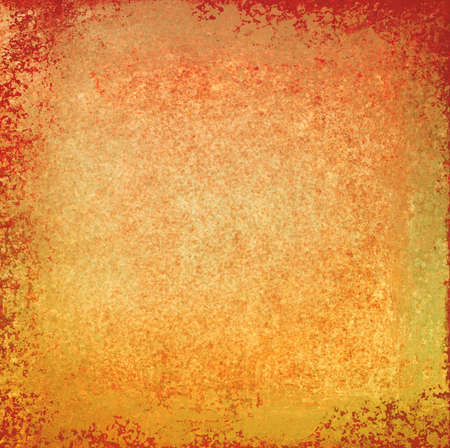 sponged: gold background with rough orange and red textured grunge paint design overlay, warm autumn color tones