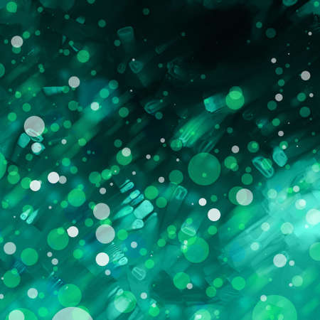 spot the difference: abstract blurred blue green lights background Stock Photo