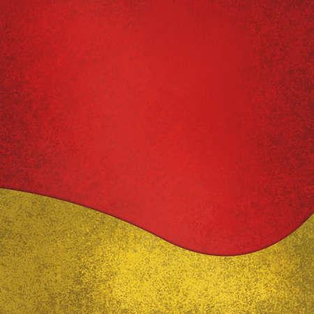 fondo rojo: fondo rojo con la suposición del elemento de diseño elegante de oro ondulada en el borde inferior, extracto agitó la decoración de color amarillo, diseño rojo y oro fondo de Navidad Foto de archivo