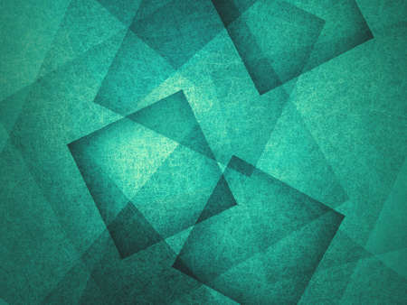 overlapping: abstract background, layers of intersecting angles, rectangles and squares floating in random pattern, transparent with intricate texture, blue green background