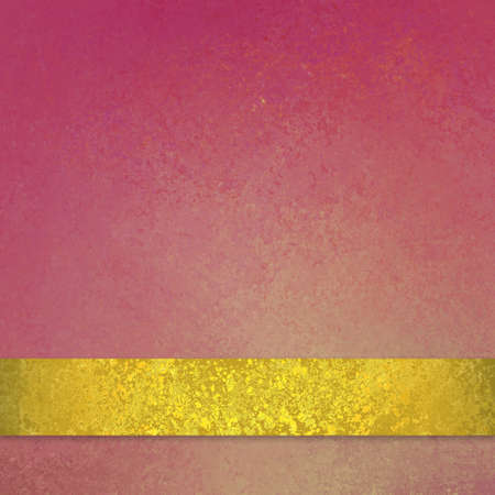 soft faded pink background with shiny gold ribbon