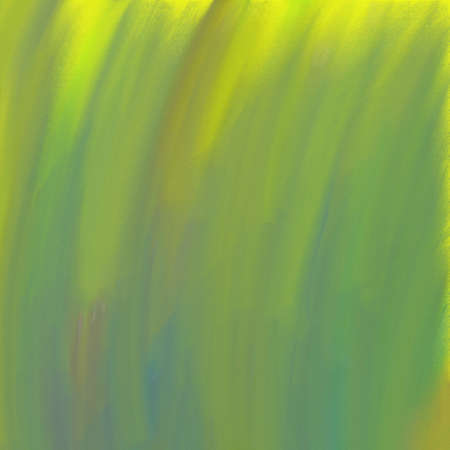 smeary: abstract paint background in yellow green and blue streaked brush strokes on rough texture Stock Photo