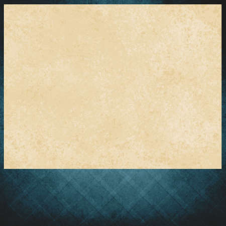 distressed paper: vintage white paper on blue background, elegant criss cross pattern of faded blue, old distressed texture, blank footer space for announcement or title