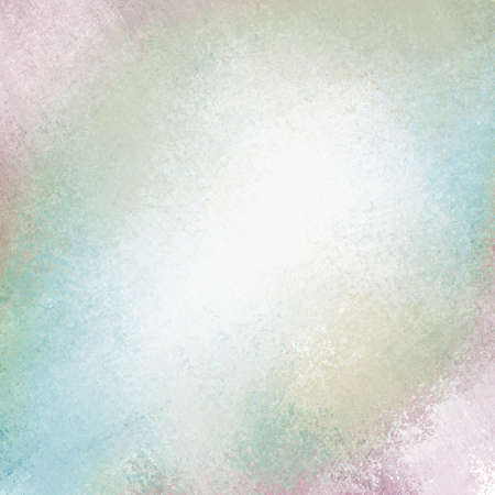 edges: pale green blue and pink grunge background with messy texture Stock Photo