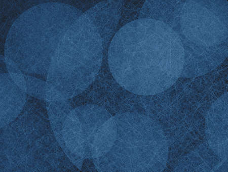 spot the difference: abstract background design, textured blue balls floating on black background Stock Photo