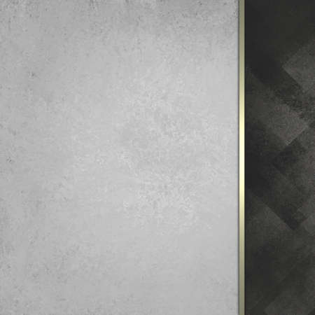 sidebar: grayed white vintage paper background with abstract black faded sidebar pattern with elegant classy gold ribbon stripe accent, formal background, blank template for website design or graphic art