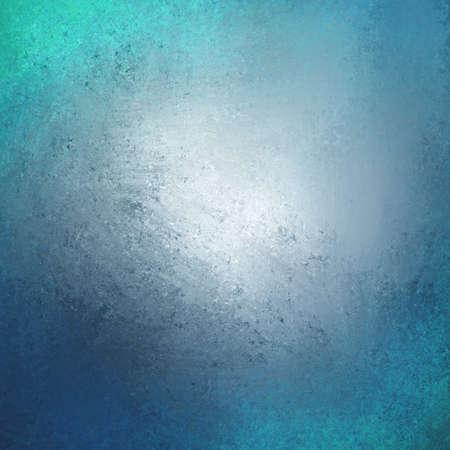 추상 청록 녹색 파란색 배경 디자인, 테두리가 어두운 멋진 색상 거친 고민 된 빈티지 grunge 텍스처의 가장자리, 창백한 부드러운 불투명 한 흰색 회색