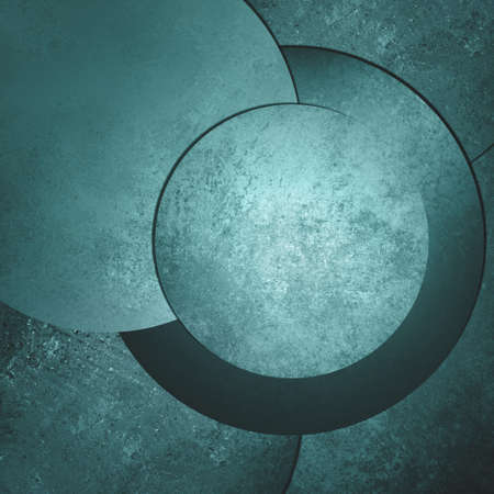 web design background: blue green background abstract art design, modern style with vintage background texture, circle button or blank round layout with text room for web design background, product display
