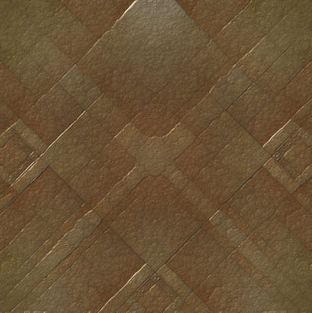 pitted: elegant brown metal plate in abstract pattern and texture illustration Stock Photo
