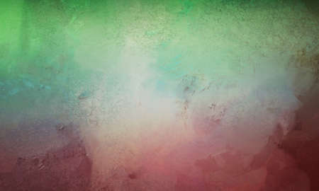 abstract teal blue green and red background with shiny metallic surface with pitted scuff marks and vintage texture
