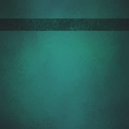 sponged: teal blue green background with dark ribbon footer with room for typography or text, has vintage grunge background texture