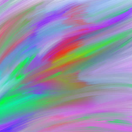 abstract colorful paint background with smeared thick brush strokes in abstract random pattern in purple, pink, yellow, green and red Stock Photo