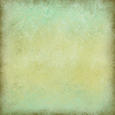 textured wall: green and pale yellow painted wall background, vintage textured brown border