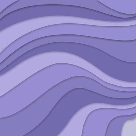 curves: purple colors in layered flowing waves concept in abstract striped pattern, purple background material design