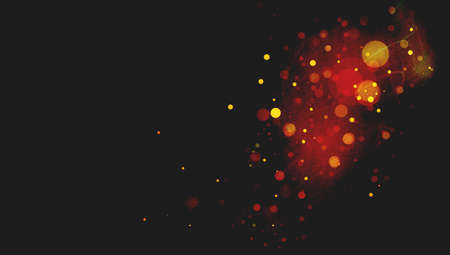 mist: abstract black background with red circles or bubbles floating in space with textured mist or scratch texture areas in soft blurred design