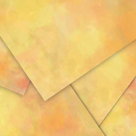 distressed paper: yellow paper material design background with vintage distressed texture Stock Photo