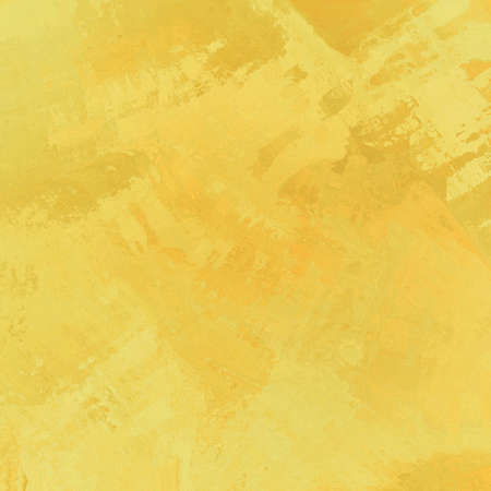 smeary: abstract yellow background with random brush stroke pattern in watercolor splash design Stock Photo