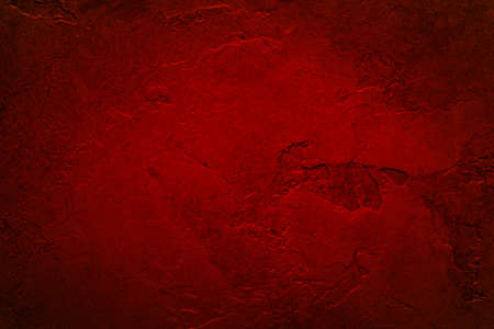 red background wall with cracked plaster or peeling paint texture design