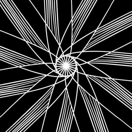 hand drawn vector background design with star or flower shape in white lines and stripes in pretty abstract kaleidoscope pattern, symmetrical design element background