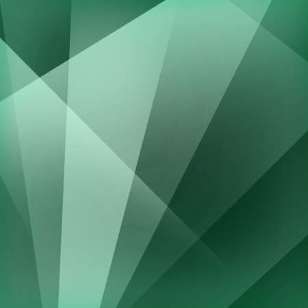 diagonal: green background, angled stripes of green and white in fan shaped pattern with triangle shape overlay and soft lighting Stock Photo