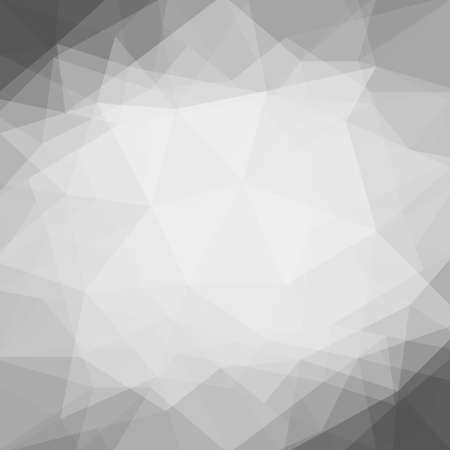 contemporary: abstract white gray black low poly background with black border triangle shapes design element. rumpled paper. double exposure layers effect Stock Photo