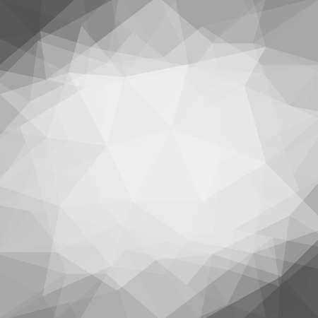 fondo elegante: Resumen blanco gris negro fondo de poli baja con negro frontera triángulo forma el elemento de diseño. Papel arrugado Doble efecto de las capas de exposición