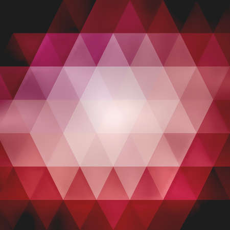 abstract pink and red low poly background design on black, triangle shapes in mosaic pattern of diamonds in diagonal striped rows Stock Photo