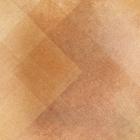 earthy: Abstract gold and brown background, squares rectangles and  triangles in geometric pattern design. Textured yellow brown paper. Diagonal block pattern. Diamond shapes and line design elements. Stock Photo