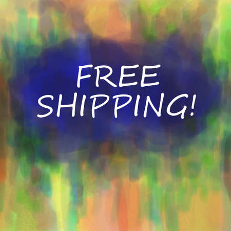 letter: free shipping sign