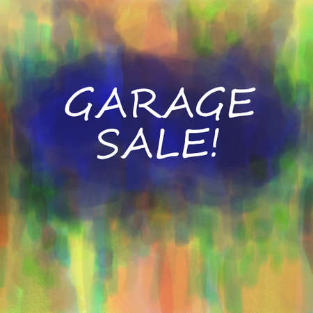 garage sale sign Stock Photo