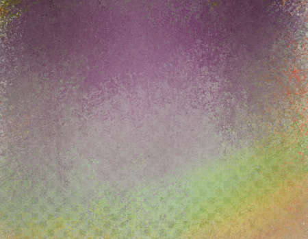 faint: messy grunge background in purple green orange and yellow with faint textured block pattern design Stock Photo