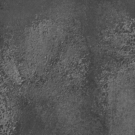 black background: black background with gray sponged stains on vintage painted canvas texture illustration, gray spattered paint design Stock Photo