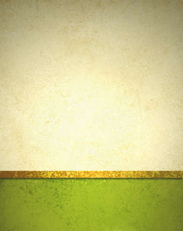gold textured background: abstract gold background with bright lime green footer and gold ribbon trim border, beautiful template background layout, luxury elegant gold paper with vintage grunge background texture design  Stock Photo