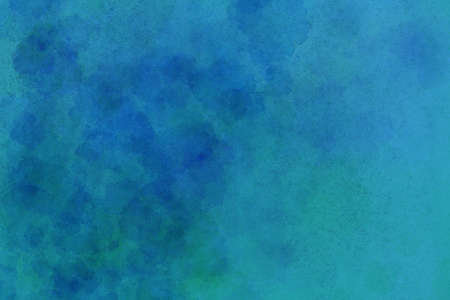 textured backgrounds: old blue paper with watercolor paint stains and splashes and grunge vintage texture Stock Photo