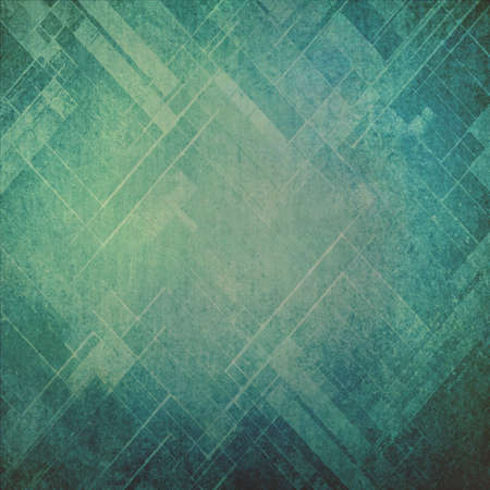 blue green background: faded vintage background in yellowed blue color with faint textured abstract pattern design with slanted squares and rectangle shapes and angled lines