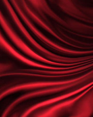 color background: elegant luxury red background with wavy draped folds of cloth, smooth silk texture with wrinkles and creases in flowing fabric