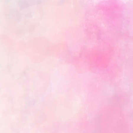 digital watercolor painting in pastel pinks Stock Photo