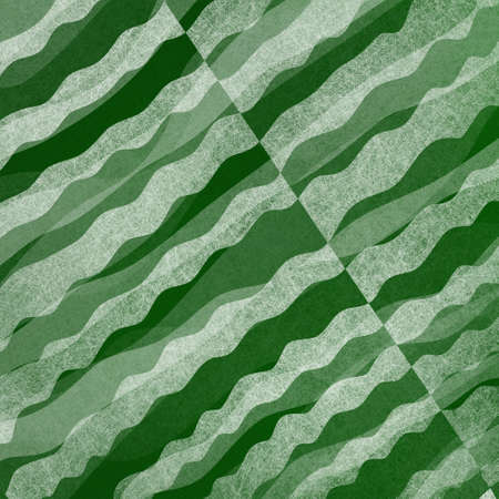 diagonal stripes: abstract green and white background with layered waves of textured material design Stock Photo