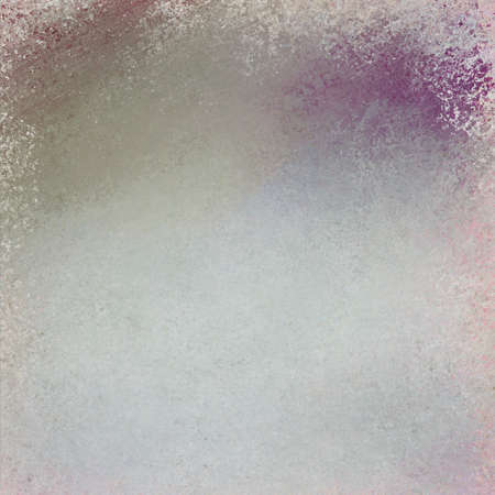graphic: distressed rough background texture in pale gray with purple color splashes or messy grunge Stock Photo