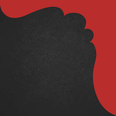 曲線がエレガントな赤い枠と黒の背景 写真素材