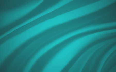 blue green background cloth illustration. Wavy folds of silk texture material with deep wrinkles or drapes