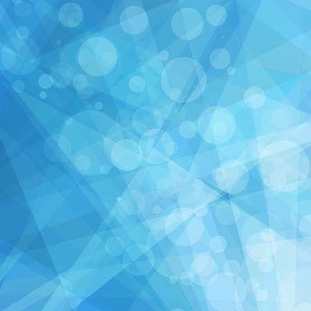 abstrakcja: Abstrakcyjne geometryczne niebieskie i białe tło, jasne odcienie niebieskiego nieba, współczesnego lub nowoczesnego stylu tła z białego bokeh światła i kształty trójkąt i paski