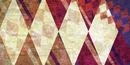 diamond shape: abstract background design, layered diamonds stripes and checkered boxes in random wallpaper pattern
